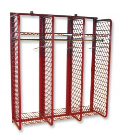 """Wall Mounted Red Rack™ Turnout Gear Storage System - 24"""" Wide Sections"""