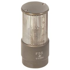 """1 1/2"""" NH Female Barrel Strainer with Poppet"""