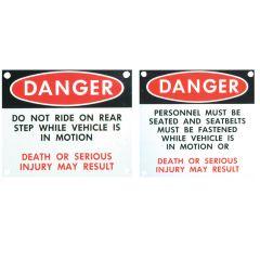 Passenger Warning Signs